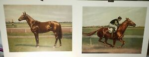 C.W. Anderson, Man of War, Vintage Litho pair , Horses, 1967