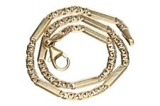 Bracelet Or 14 k jaune  maille Figaro