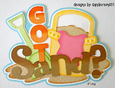 Sand Beach Die Cut PreMade Paper Piecing Border Scrapbooking Album danderson651