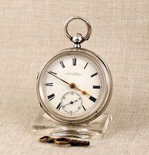 Alte Schlüssel Taschenuhr SILBER Uhr silver fusee pocket watch handaufzug 掛表