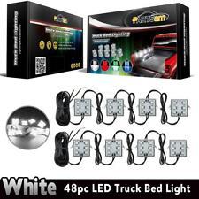8pcs Pickup Truck Bed 48 White LED Light strips Kit for Dodge Ram 1500 2500 3500