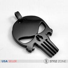 Men's Stainless Steel Jewelry The Punisher Skeleton Skull Head Logo Pendent 14T