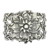 Buddha Lotus Flower Belt Buckle Zinc Alloy Western Cowboy Cowgirl Novelty