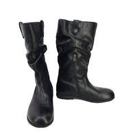 Birkenstock Women's Sarnia High Black Leather Boots US Size 9-9.5 EUR 40 Narrow