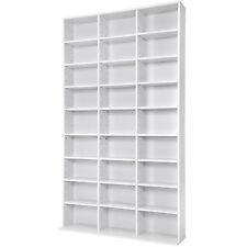 Estante de CD DVD shelf archivado 1080 CDs DVDs medios archivo estanteria blanco