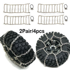 4Pcs Metal Anti-skid Snow tyres Chain For 1/10 RC Traxxas TRX-4 114mm OD 1.9inch