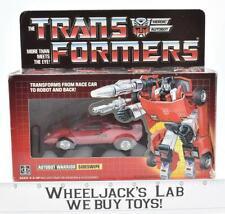 Sideswipe MIB 100% Complete B 1985 Vintage Hasbro G1 Transformers Action Figure
