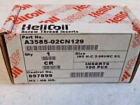 """Heli-Coil Free Running Helical Insert 6-32 UNC 0.207/"""" OAL Qty 100 11185-06GN207"""