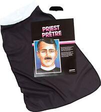 Black Vicars Fancy Dress Costume Kit With White Collar Reverend Vicar Set