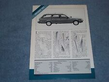 1987 Peugeot 505 Vintage Info and Specs Article