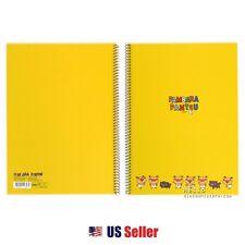 Pambara Pantsu A4 Spiral Notebook : Yellow