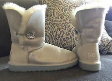 Ugg Australia Bailey Button Swarovski Bling I Do Boots Size 7