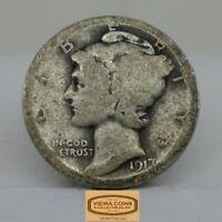1917-S  Mercury Silver Dime, Early Date -#C16579