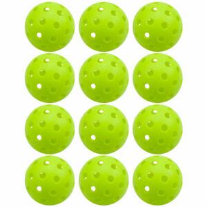 12-Pack of Outdoor Pickleball Balls Set, USAPA Standard 40 Holes Pickle Balls