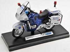 BLITZ VERSAND BMW R1100RT Police Polizei blauweiß Welly Motorrad Modell 1:18 NEU