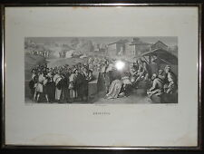 1800-CELEBRAZIONE DELL'EPIFANIA-LASINIO-PONTORMO-INCISIONE ORIGINALE-CORNICE