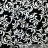 BonEful Fabric FQ Cotton Quilt B&W Black White Batik Flower Leaf Robert Kaufman