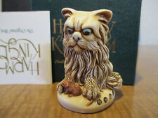 Harmony Kingdom Fluffy One Bad Pussy Cat Uk Made Marble Resin Box Figurine