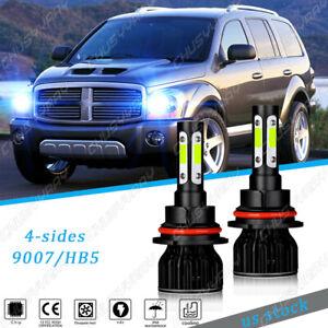 For Dodge Durango 1998-2003 - 2X 9007 8000K Front LED Headlight Bulb Hi/Lo Kit