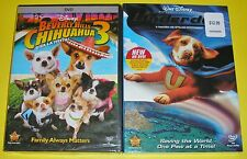 Disney DVD Lot - Underdog (New) Beverly Hills Chihuahua 3 (New)