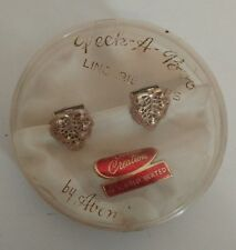 Vintage 1900s Peek a Boo Abon Creations 24 kt Gold Plated Leaf Clip On Earrings