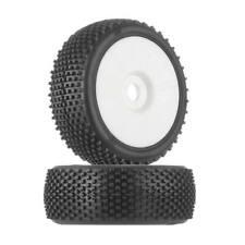 HPI 67613 1/8 Block White Buggy Tire on White (2) D815