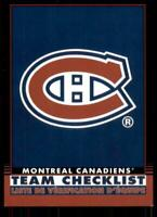 2020-21 O-Pee-Chee Retro Black Team Checklist 566 Montreal Canadiens /100