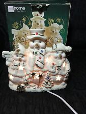 Jc Penny's Home Collections Snowman Trio Nightlight
