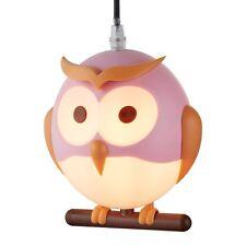 Searchlight 0113PI Novelty Childrens Owl Pendant Pink