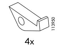 IKEA 113950 EXPEDIT Glass Shelf Support 4x