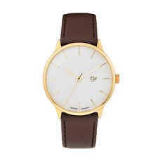 CHEAPO NEW Leather Watch Brown/Gold Khorshid BNIB