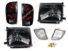 Black Headlights + Clear Bumper + Tail lights for 98-00 Tacoma 4WD / PreRunner