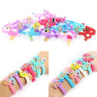 Kids Cartoon Unicorn Flamingo Animal Silicone Rubber Wristband Bracelet Bangle