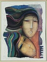 "Ltd. Ed Hand Embellished Serigraph Art 95/200 COA ""2 GIRLS II"" by LEE LOOI LONG"