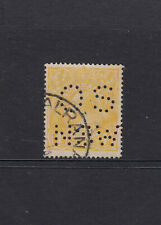 SINGLE WMK: 4d Lemon-yellow SG 22c Perf OS/NSW fine used with cerificate.