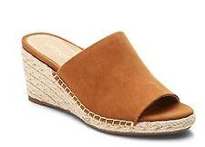 Vionic Orthaheel TULUM KADYN Wedge Suede Slip-on Sandals CARAMEL Size 9.5 W NIB