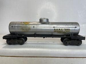 Lionel Trains O Scale Model Trains Sunoco All Metal Tanker Tank Car No 2955