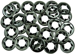 """Plymouth Push Nut Retainer Clips- Fits 1/2"""" Bolts & Studs- 25 clips- #007"""