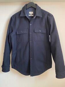 Club Monaco Heavy Wool Navy CPO Shirt Jacket Men's Size Small