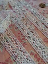"""French Antique Lace Val Trim dolls 3 yds +32"""""""