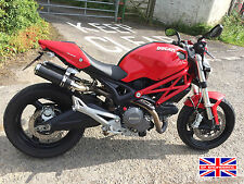 Ducati Monster 796 09+ SP Engineering Carbon Fibre Stubby Domed GP Exhausts