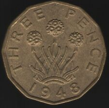 More details for 1948 george vi nickel-brass threepence coin | british coins | pennies2pounds