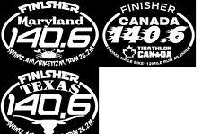 Ironman Texas, canada and Maryland Triathlon  Finisher Decal Sticker