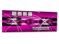 """Glass Wall Art AG312500047 PICTURE STYLE STRIPES PINK 49.2""""x19.7"""" / 125x50cm XXL"""