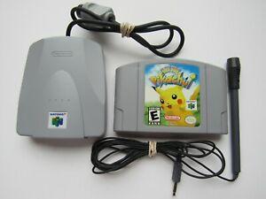 ✅ Nintendo 64 Hey You Pikachu Video Game VRU Microphone Complete Set N64 Pokemon