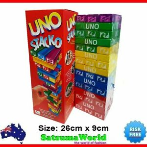 Uno Stacko Jenga stacking game for two players game drinking game toy family
