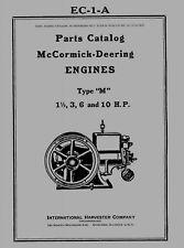 McCormick Deering  Type  M  Parts Catalog