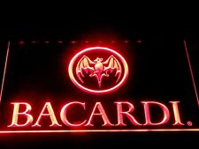 12x8 Inch Bacardi Led Neon Sign On/Off switch plugs into mains