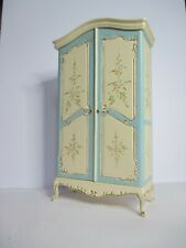 More details for bespaq bleu dolls house furniture armoire. ltd edition. hand painted cream/blue