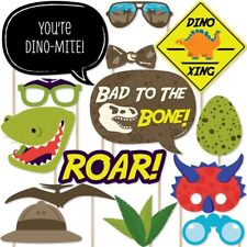 20 X Dinosaur Large Photo Booth Props Moustache Birthday Party Favour Kit DIY